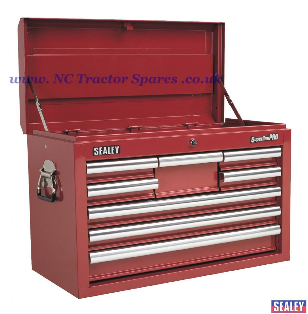 Topchest 8 Drawer with Ball Bearing Runners - Red